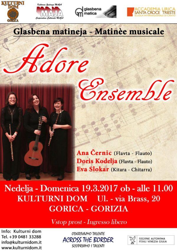 Vabilo - Invito Adore Ensemble 19-3-17