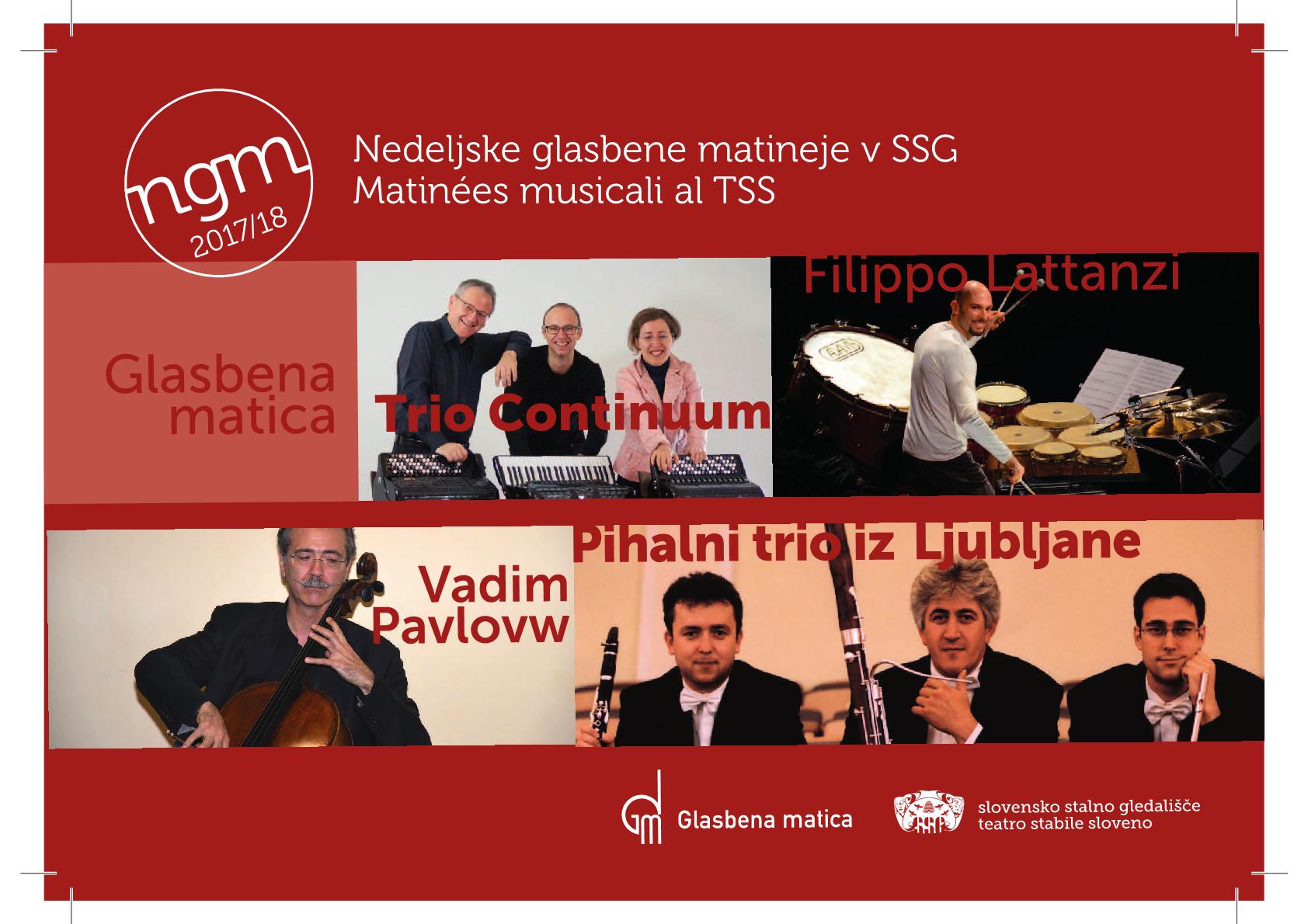 19.11.2017 ob 11.00 uri – Glasbene matineje, v Kulturnem domu v Trstu