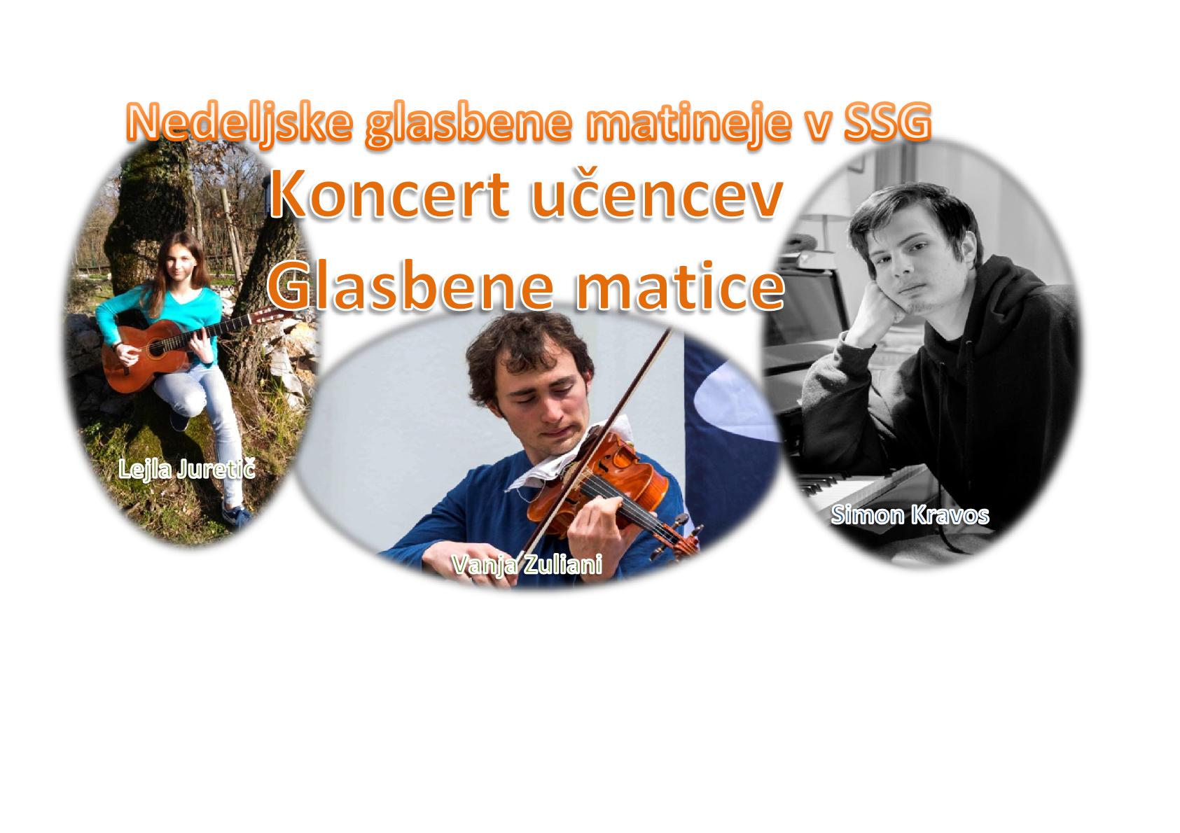 18.3.2018 ob 11.00 uri – koncert učencev Glasbene matice