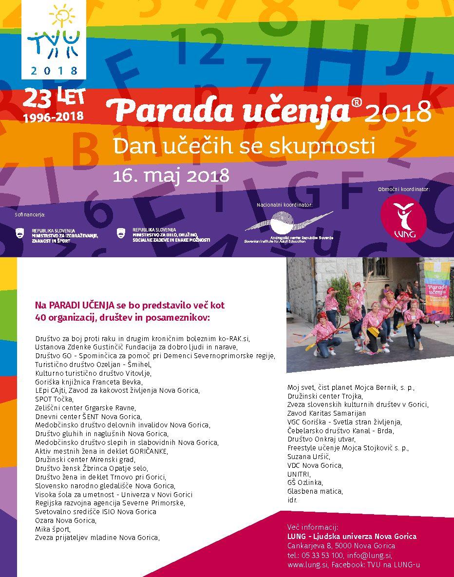 PARADA UČENJA – 16.5.2018 Nova Gorica