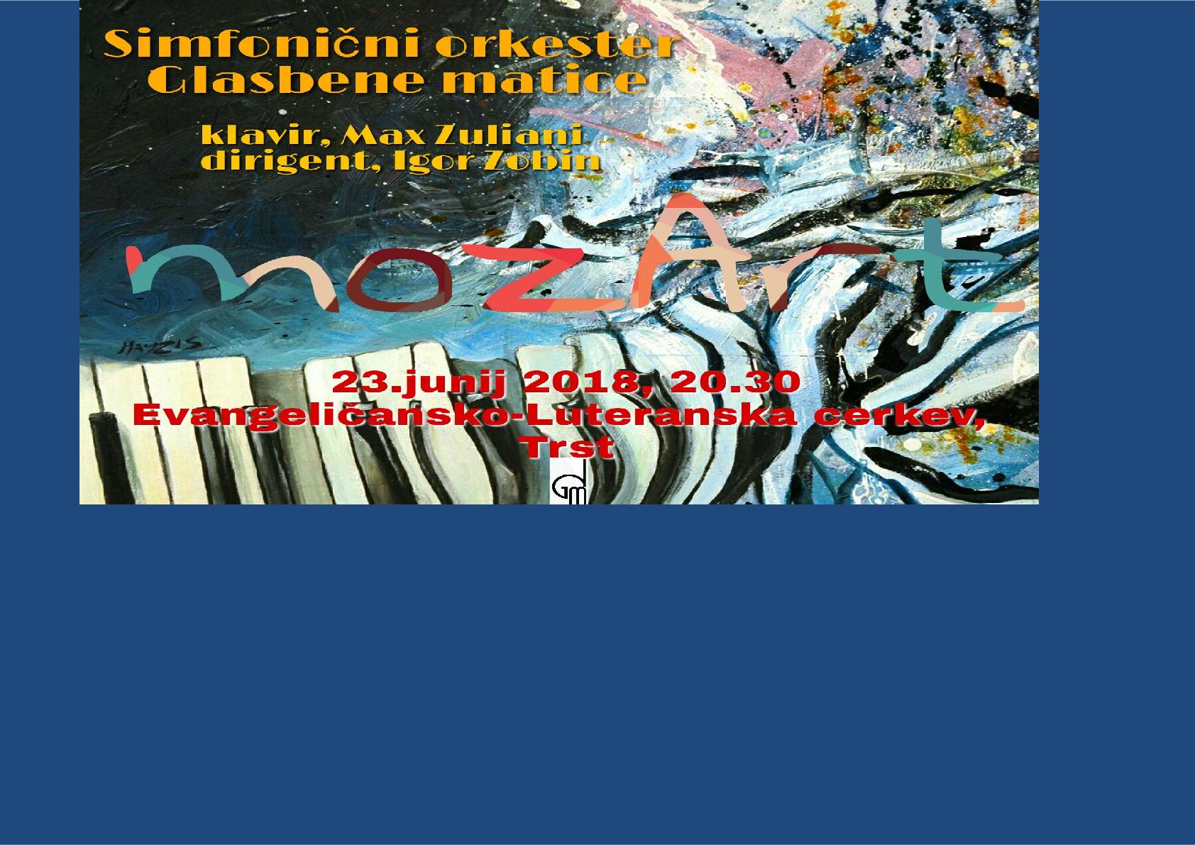 23.6.2018 ob 20.30 uri – koncert v Evangeličansko-Luteranski cerkvi