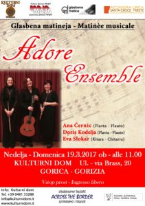 Vabilo - Invito Adore Ensemble 19-3-17