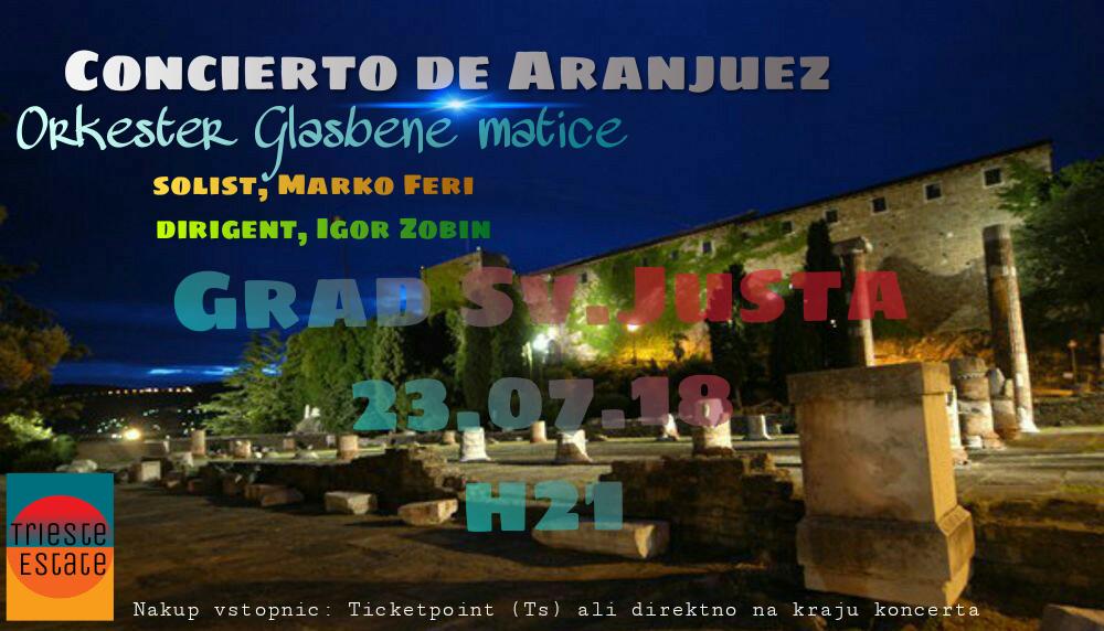 23.7.2018 ob 21.00 uri – koncert na gradu Sv. Justa
