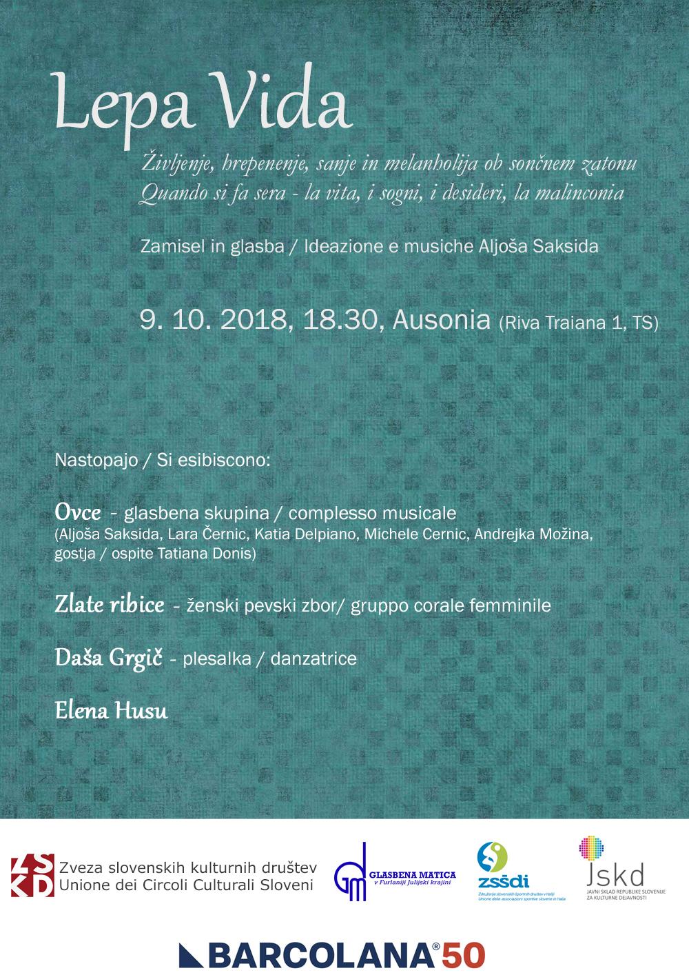 09.10.2018 OB 18.30 SLOVENSKI POZDRAV BARKOLJANKI