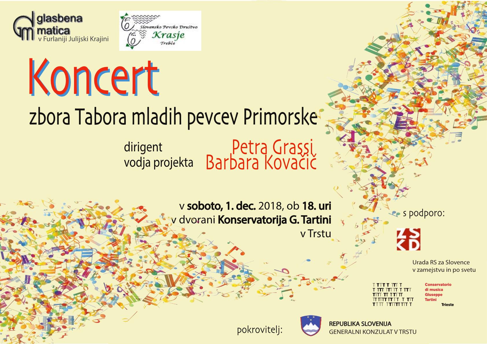 1.12.2018 ob 18.00 v dvorani konservatorija G. Tartini v Trstu